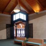 Oak Lawn Cemetery and Arboretum comfortable pews to visit loved ones in indoor community mausoleum